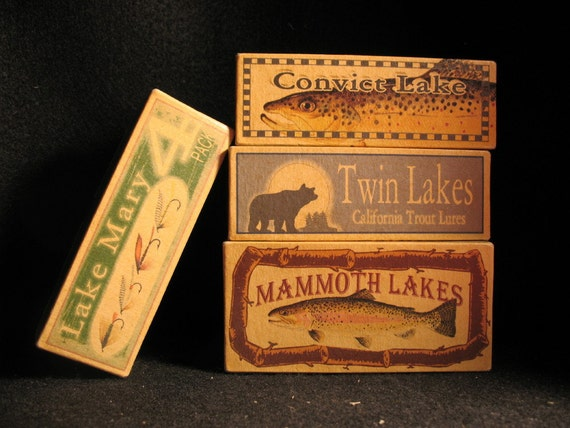 Mammoth Lakes Lake House Fishing Cabin Decor By 4YourLake
