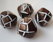 set of 4 pieces in chocolate brown