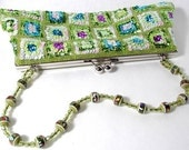 Green Sequin Clutch Purse with Beads