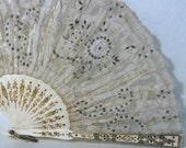 1900s Rare Antique Lace Fan 15.5 inches