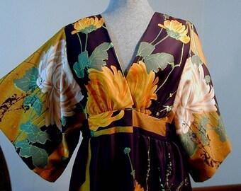 Hawaiian Style Mumu Long Dress Travels Anywhere in Comfort
