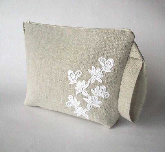 Crochet Yarn Holder : Knitting bag, crochet bag, yarn holder, linen project bag, crochet ...