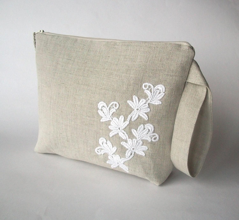Knitting bag crochet bag yarn holder linen project by ProjectBag