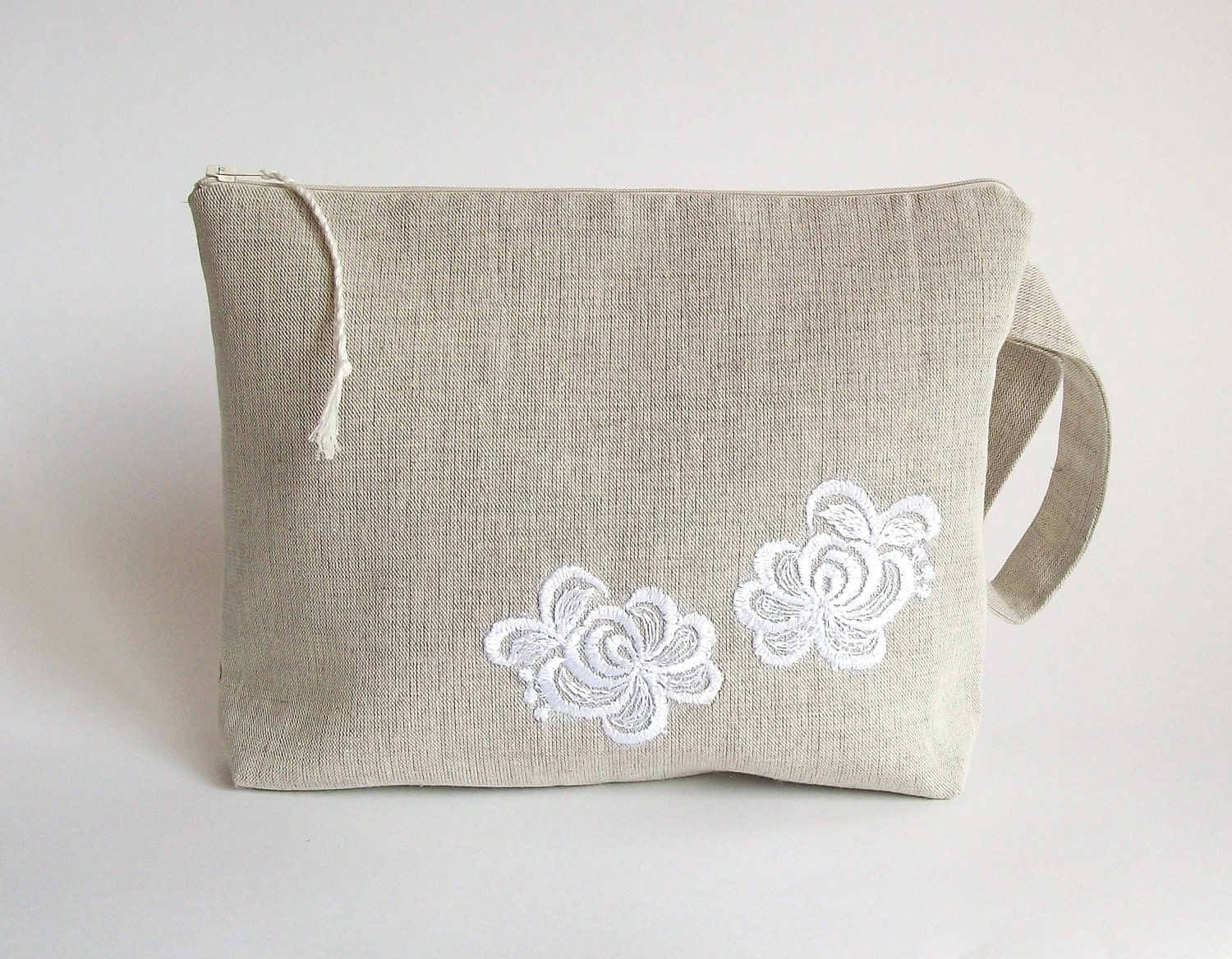 Crochet Knitting Bag : Knitting bag crochet bag yarn holder linen project by ProjectBag
