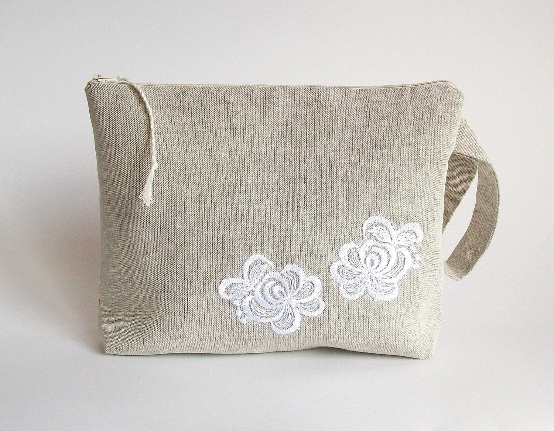 Crochet Yarn Holder : Knitting bag crochet bag yarn holder linen project by ProjectBag