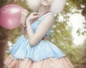 Modern Marie - Rococo Inspired Blue, Rust and Pink Party Dress