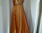 Sexy Vintage Copper Color  Nightgown 32/34