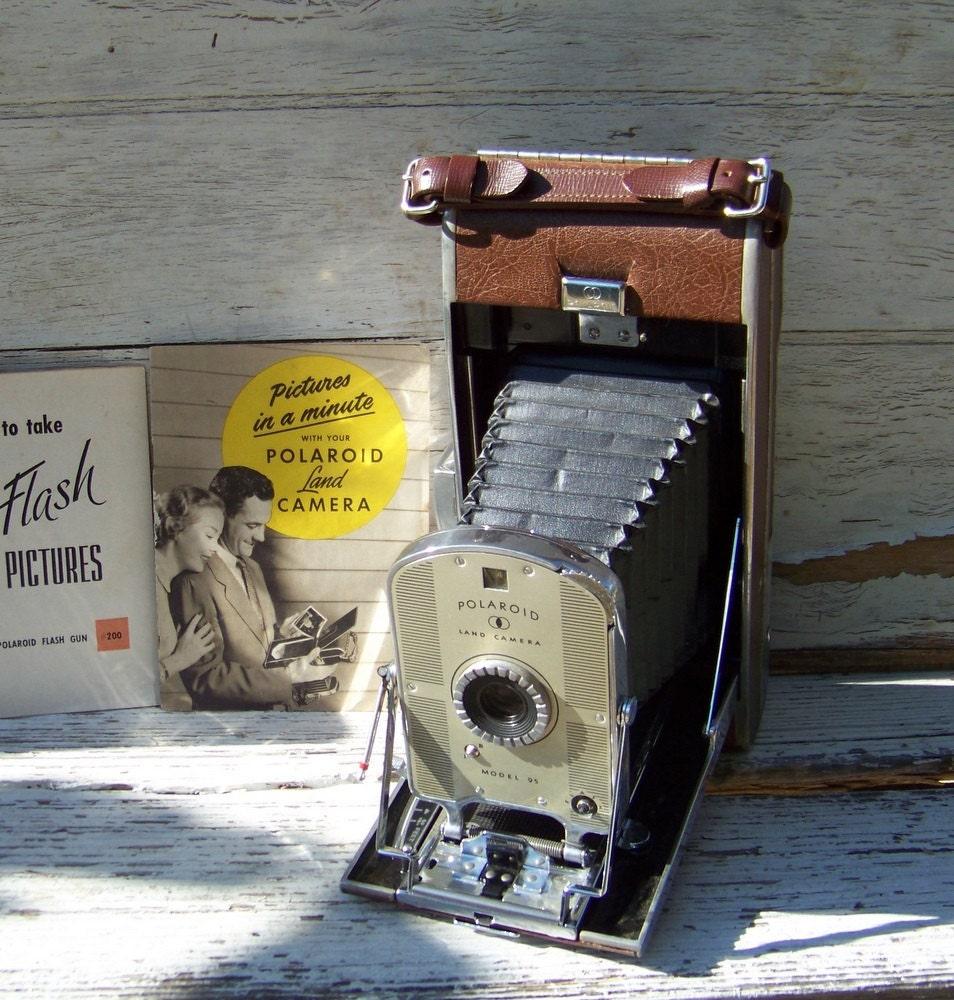 Model Land Movie: Vintage Polaroid Land Camera Model 95 1948 First By