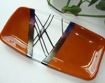 Fused Glass Dish - Chopstix Collection Caramel