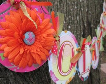 Happy Birthday Decorations, Butterfly Custom Name Banner, Party Decor, Girl Birthday Party