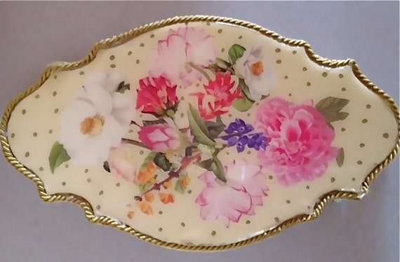 Handcrafted Decorative Floral Perfume and Accessory Tray
