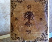 Tree of Life Pendulum Board /  Made by Hand / Ouija / Witch / Wicca / Wiccan