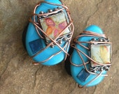 Butterfly Eggs ... Decorative Magnet Pair ... handmade by Tara