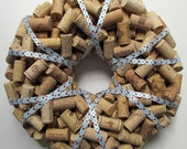 Reserved for marif32: Polka Dot Wine Cork Wreath and Unique Wine Cork Wreath