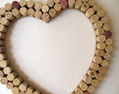 Wine Cork Heart Wall Decor / Bulletin Board - Wedding, Anniversary, Wine Lover