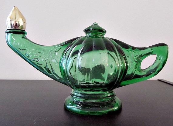 Avon Perfume Bottle Genie Lamp in Green