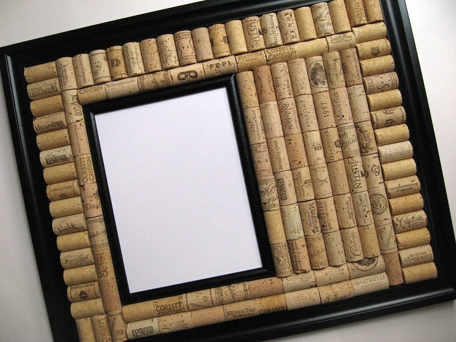 Black Frame Wine Cork and Dry Erase Board by LizzieJoeDesigns