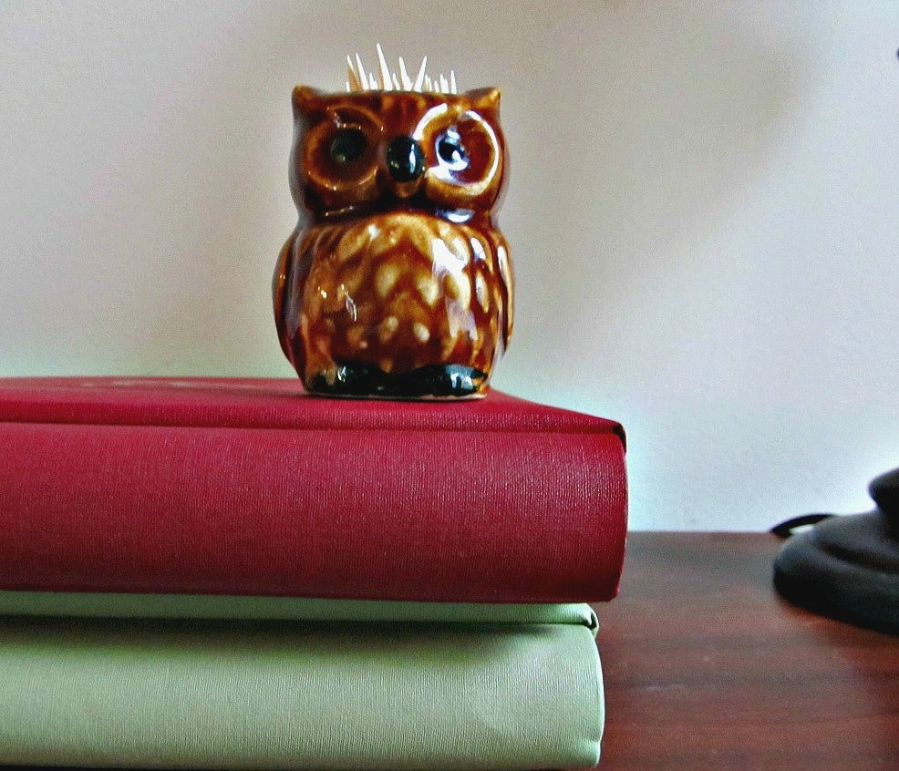 Owl toothpick holder by lizziejoedesigns on etsy - Toothpick holder for purse ...