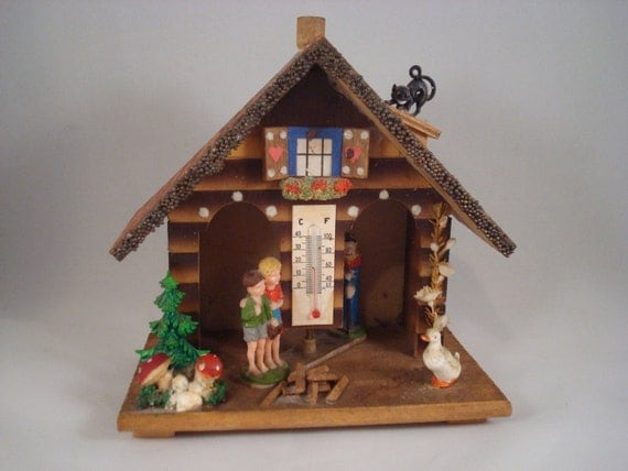 Vintage Toggili West Germany Weather House With Hansel Gretel