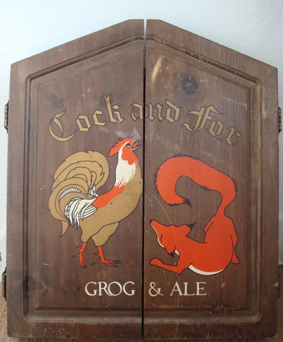 The Cock And Fox Grog Amp Ale Dart Board And Cabinet By Serine23