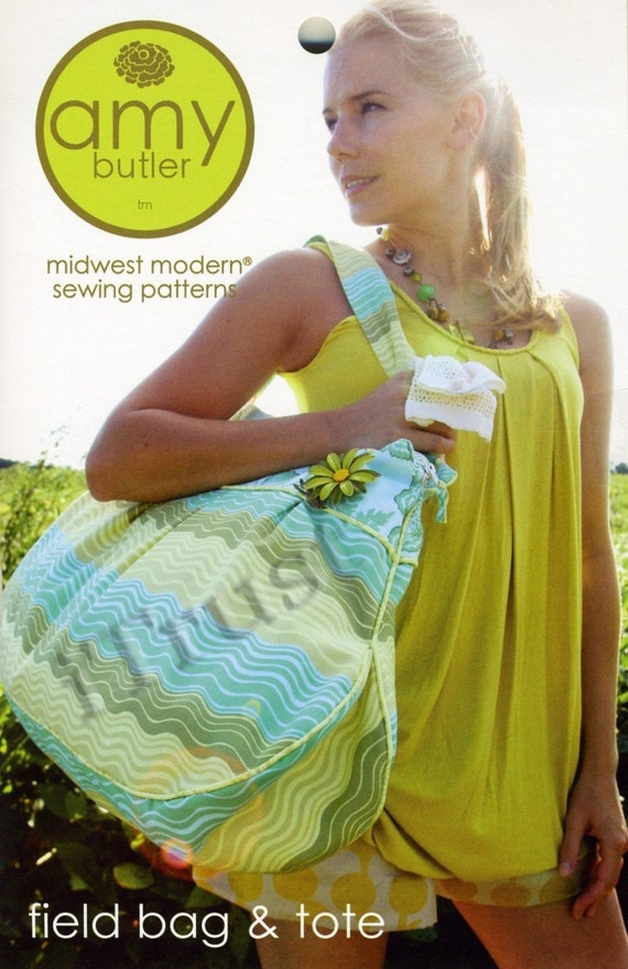Amy Butler Sewing Pattern Field Bag and Tote - FREE SHIPPING