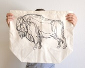 Buffalo Illustration Print Tote