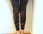 Celestial Dust Black and Rust Speckled Dyed Leggings