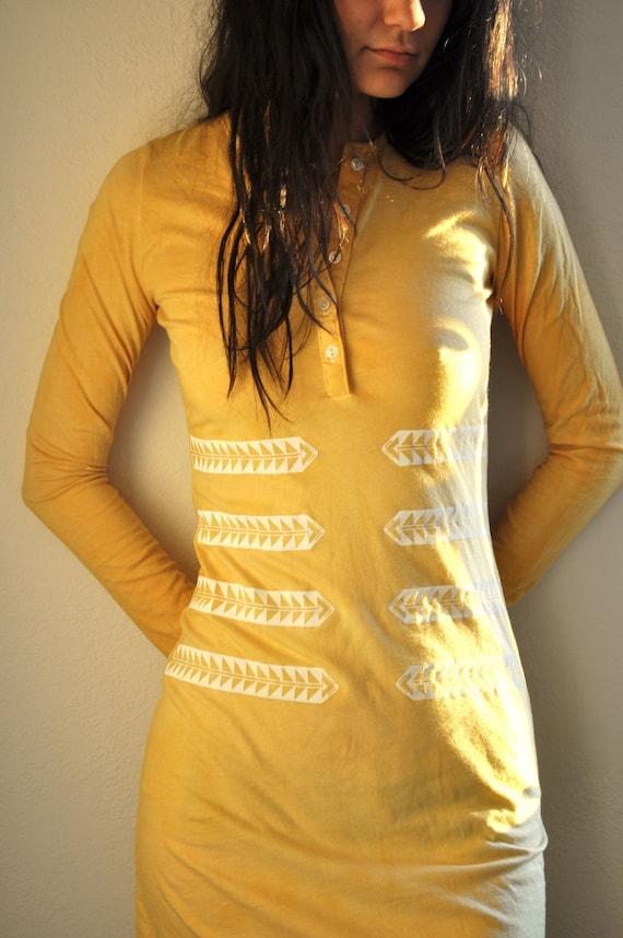 The Golden Sunshine Triangle Rib Dress