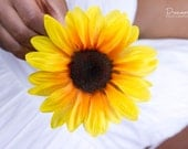 Large Yellow Sunflower Hair Clip // Quality Hair Care Product // Luxury Summer Hair Styling Accessory //  Silk Floral Hair Jewelry