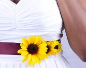 Satin Chocolate Sunflower Sash