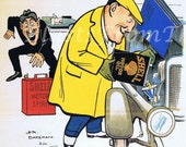 Shell Motor Poster Print c. 1924 'Concentration', Perfect for Framing, Colorful, Delightful, Fun, Man Cave, Office Decor, Garage