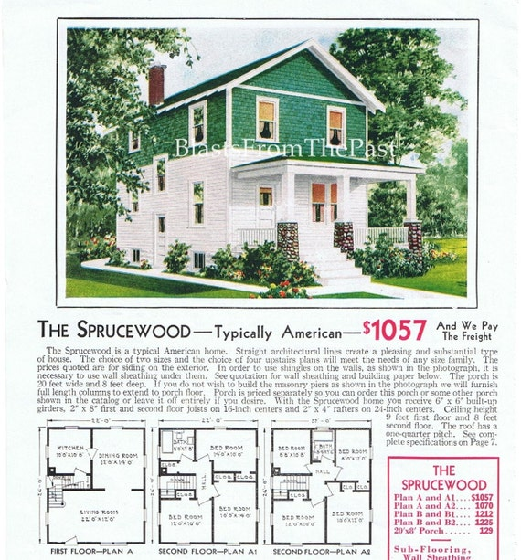1928 aladdin homes vintage mail order pre cut by Pre cut homes
