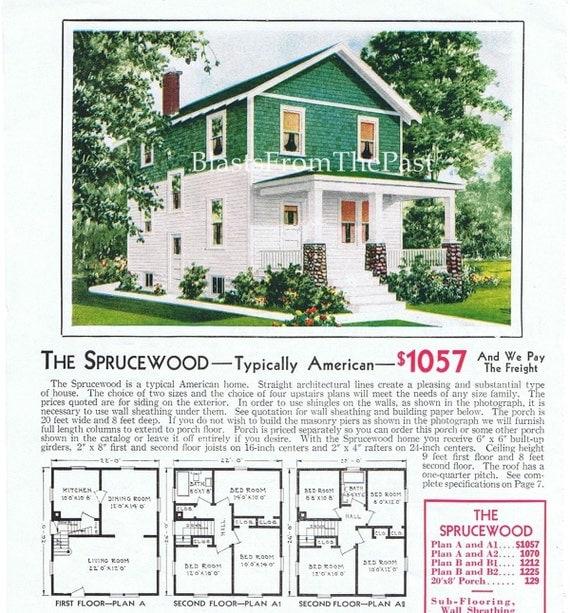 1928 Aladdin Homes Vintage Mail Order Pre Cut Home Print