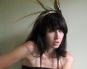 Crown of Love IV - Blonde feathered headpiece captured wild, natural headband