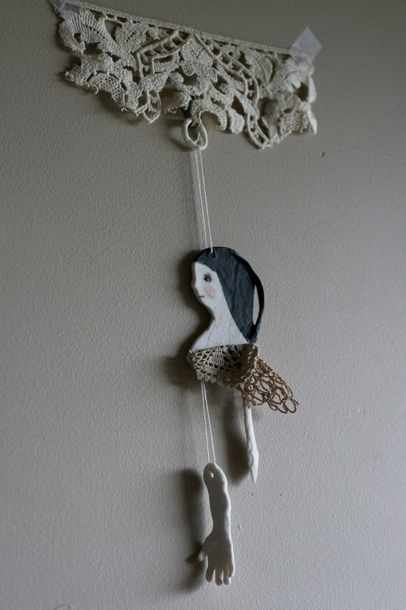 """Wall Art 10 mixed media """"Be brave"""" Original assemblage bricolage"""