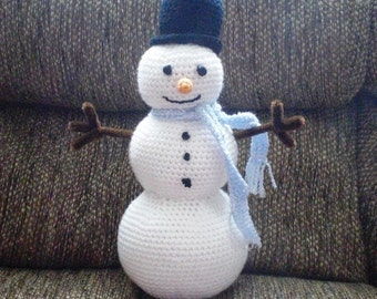 Sammi the Snowman Crochet PATTERN