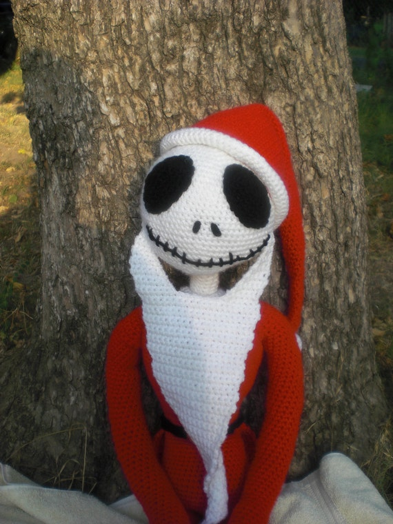 Crochet Patterns Nightmare Before Christmas : Santa Jack Skellington Crochet PATTERN by lakfletcher on Etsy