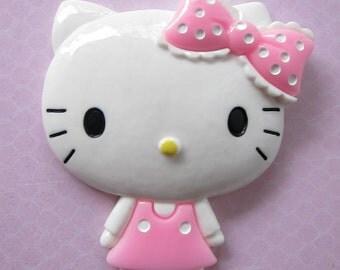 1 pc XL Kawaii Cat Pink Dress/Polka Dot Bow