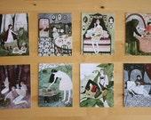 fairytale postcard set
