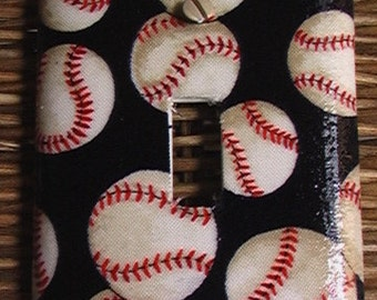 Baseball Single Toggle Light Switch Plate Cover