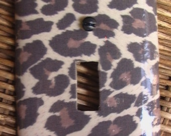 Leopard  Single Toggle Light Switch Plate Cover  Animal Print