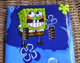 Sponge Bob Double Toggle Light Switch Plate Cover