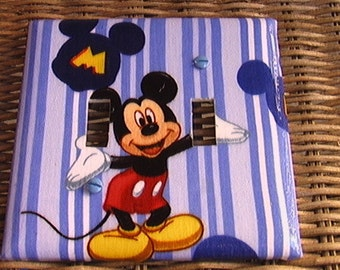 Mickey Mouse Disney Double Toggle Light Switch Cover Plate