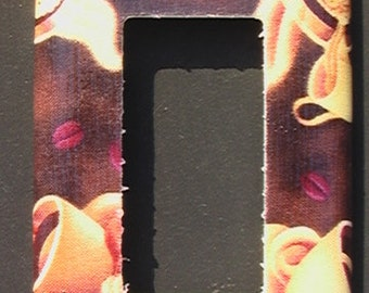 Coffee  Single GFI Rocker Light Switch Plate Cover
