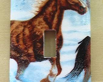 Horses Single Toggle Light Switch Plate Cover