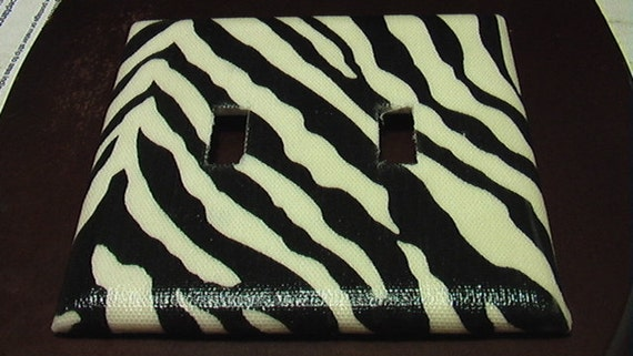 Zebra Double Toggle Lite Switch Plate Cover