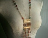 Reserved for Penny: Vintage 70s Egyptian Style Necklace