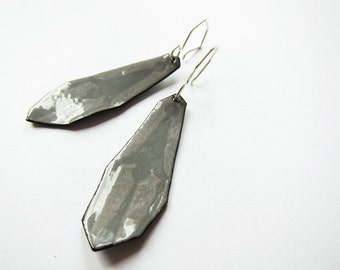 Ghost Chandelier Earrings - Gray