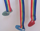 Rainbow Pacifier / Dummy Clip with ribbon