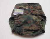 One-Size Pocket Diaper Marine Woodland  MARPAT Custom Spot